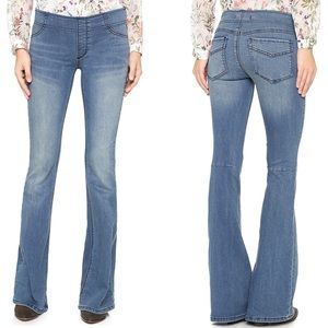 NEW Free People Pull On Flare Jeans Blue Size 28
